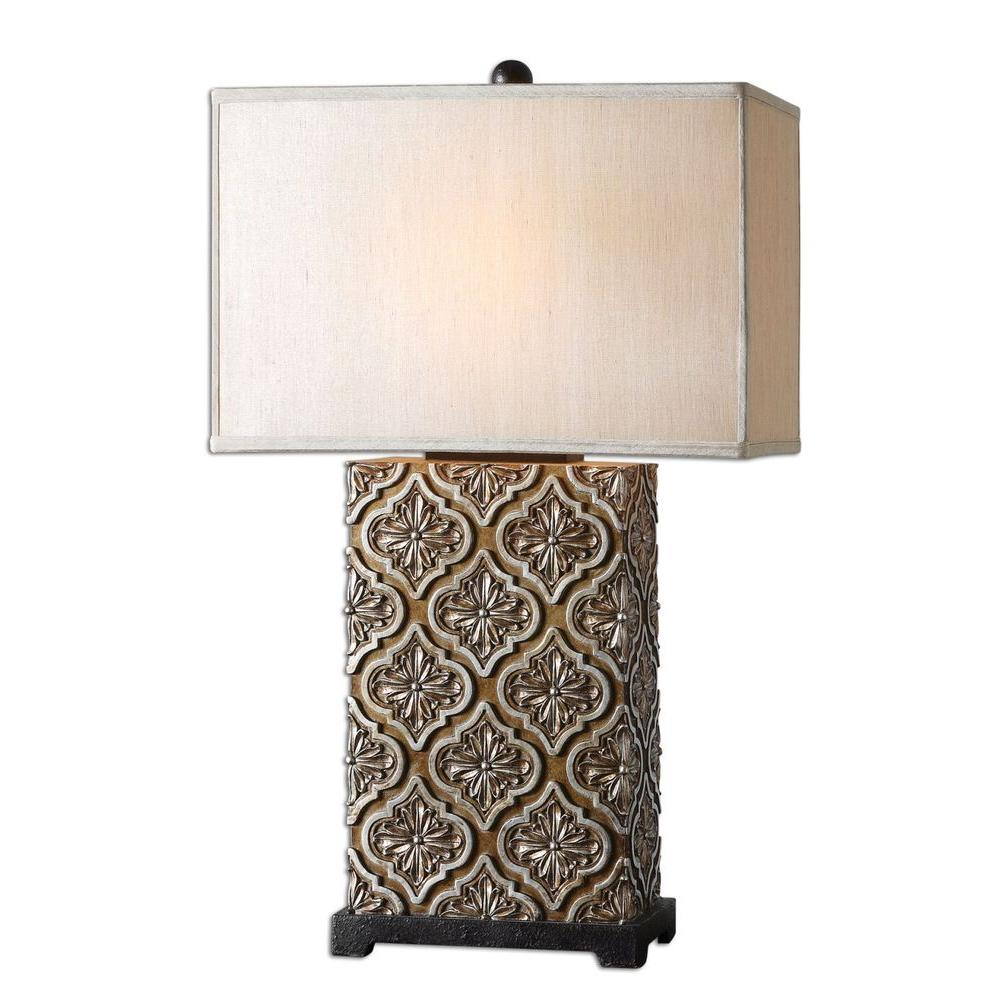 Global Direct 30.5 in. Curino Golden Bronze Table Lamp