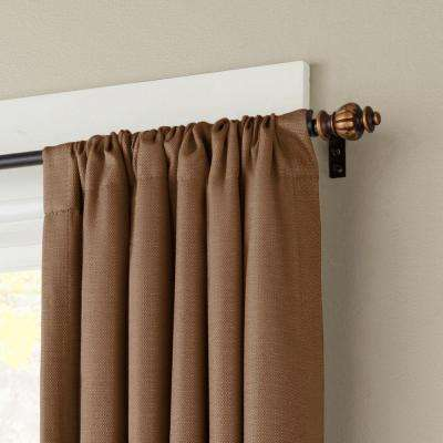Othello 48 in. - 86 in. Telescoping 1/2 in. Curtain Rod Kit in Oil Rubbed Bronze with Finial