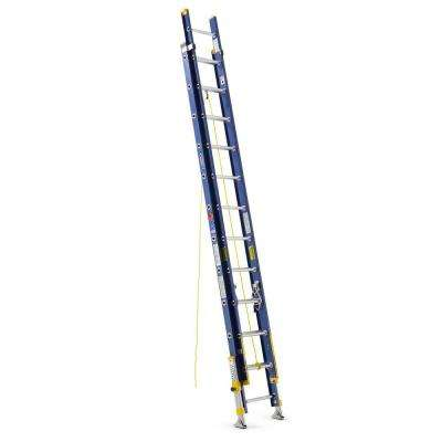24 ft. Fiberglass D-Rung Equalizer Extension Ladder with 300 lb. Load Capacity Type IA Duty Rating