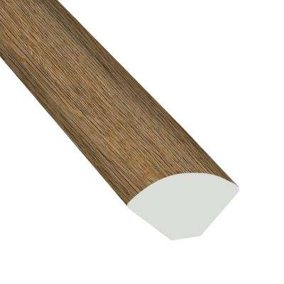 Forrest Brown 3/4 in  Thick x 3/5 in  Wide x 94 in  Length Luxury Vinyl  Quarter Round Molding