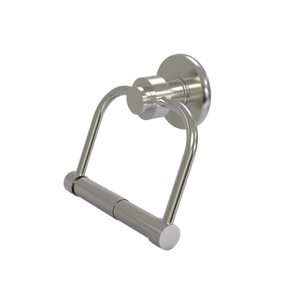 Allied Brass Mercury Collection Single Post Toilet Paper Holder in Satin Nickel