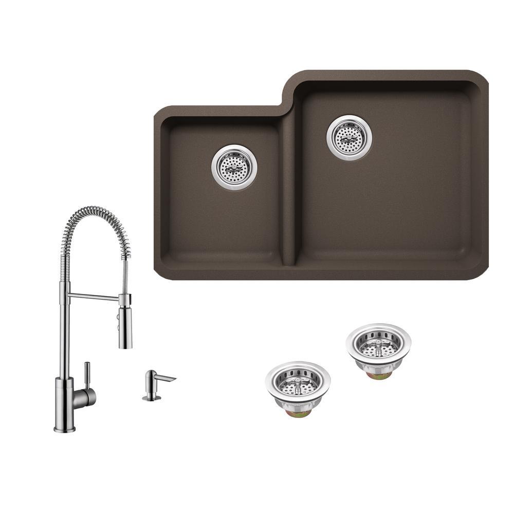 Undermount Composite Kitchen Sink Faucet on single kitchen sink faucet, farmhouse kitchen sink faucet, wall mount kitchen sink faucet,