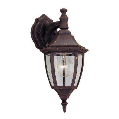 Waterbury Collection Autumn Gold Outdoor Wall-Mount Lantern