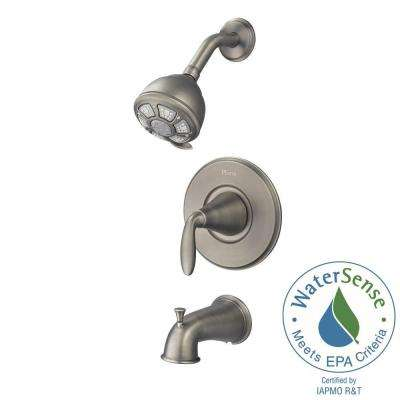 Pasadena Single-Handle 3-Spray Tub and Shower Faucet in Slate (Valve Included)