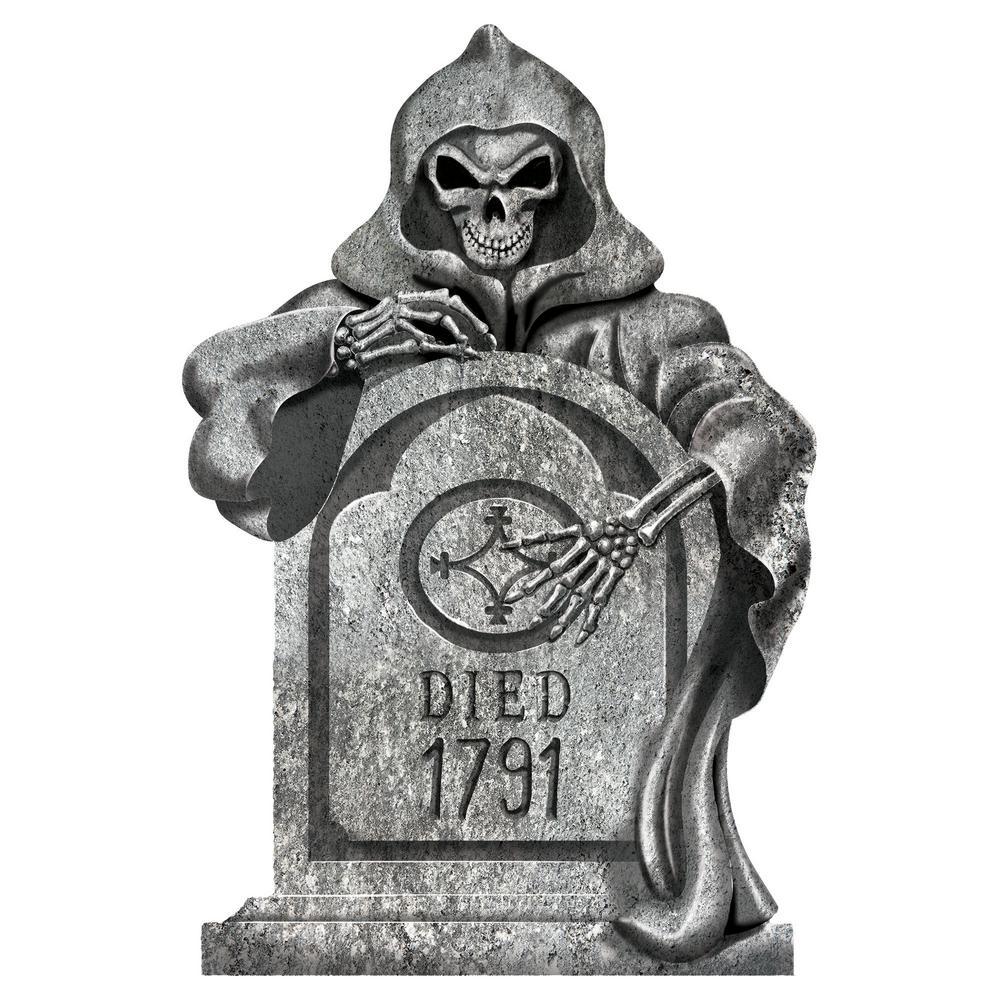 22 in. Halloween Reaper Styrofoam Tombstone (2-Pack)