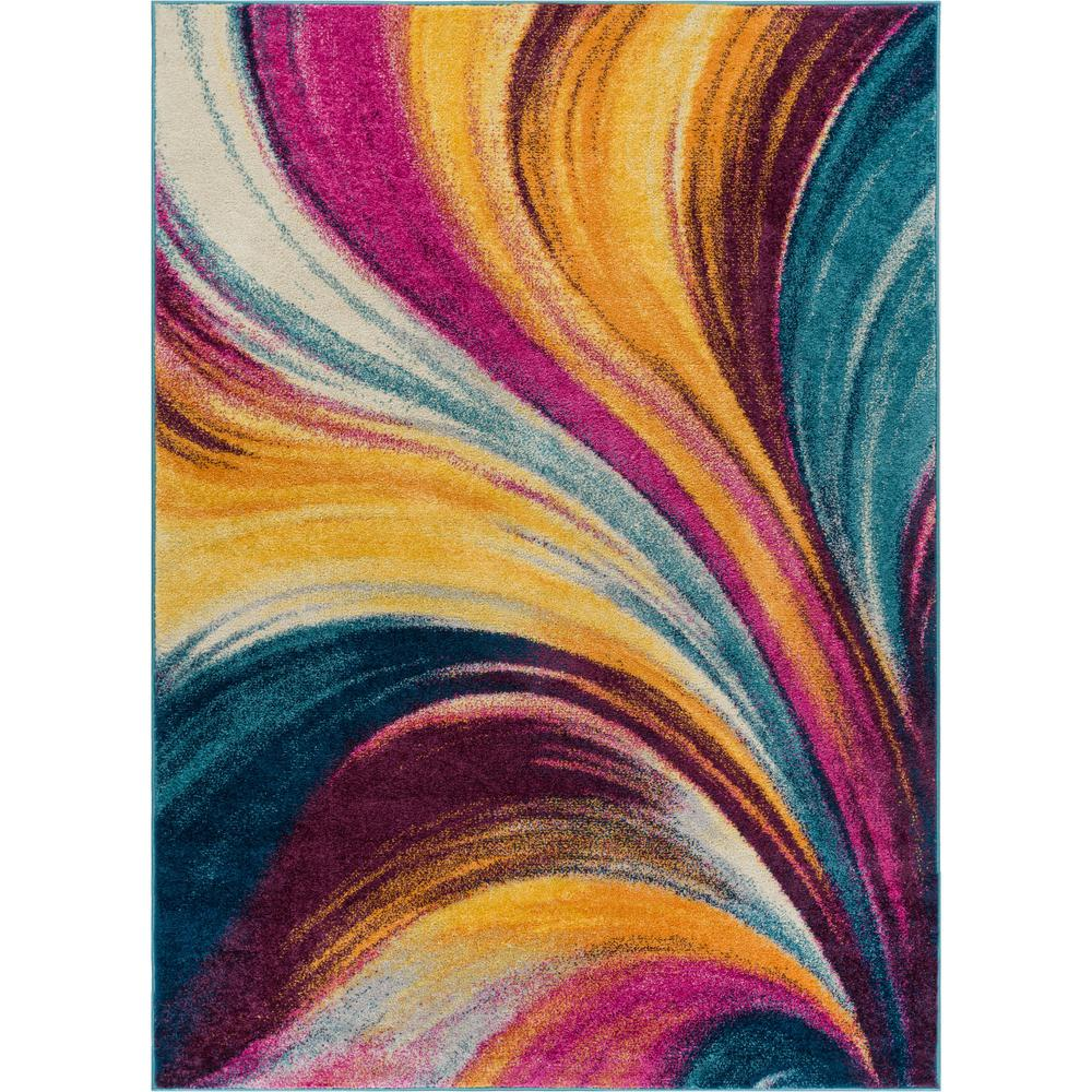 Well Woven Vettore Tratto Multi 3 Ft X 5 Modern Abstract Area Rug