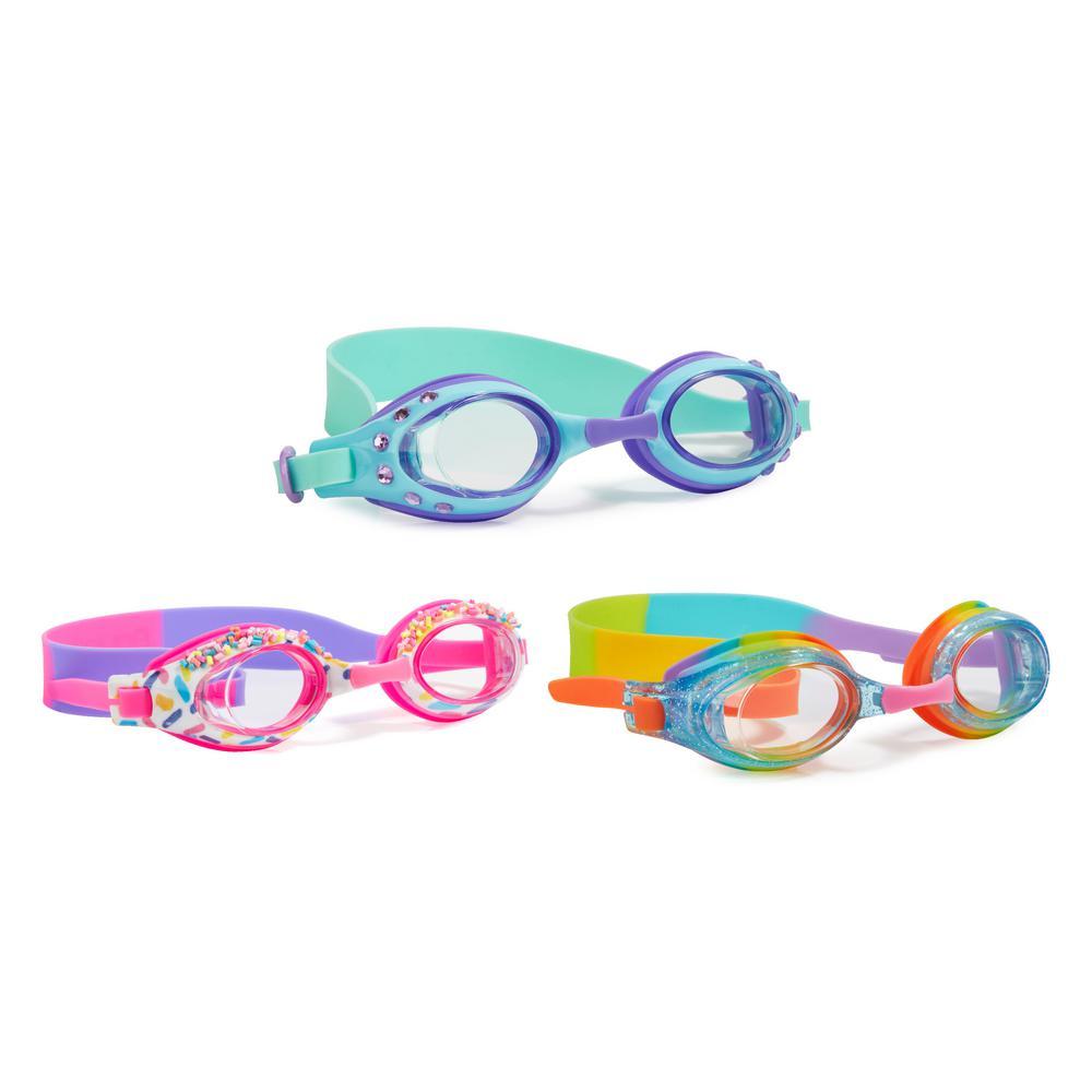 AQUA2UDE Rainbow Sprinkle Classic Goggle (3-Pack), Rainbo...