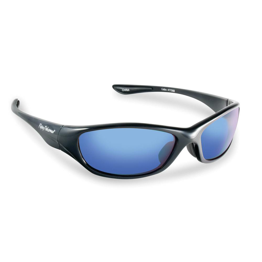 d8369311c2aa Flying Fisherman Cabo Polarized Sunglasses in Black Frame with Smoke in  Blue Mirror Lens