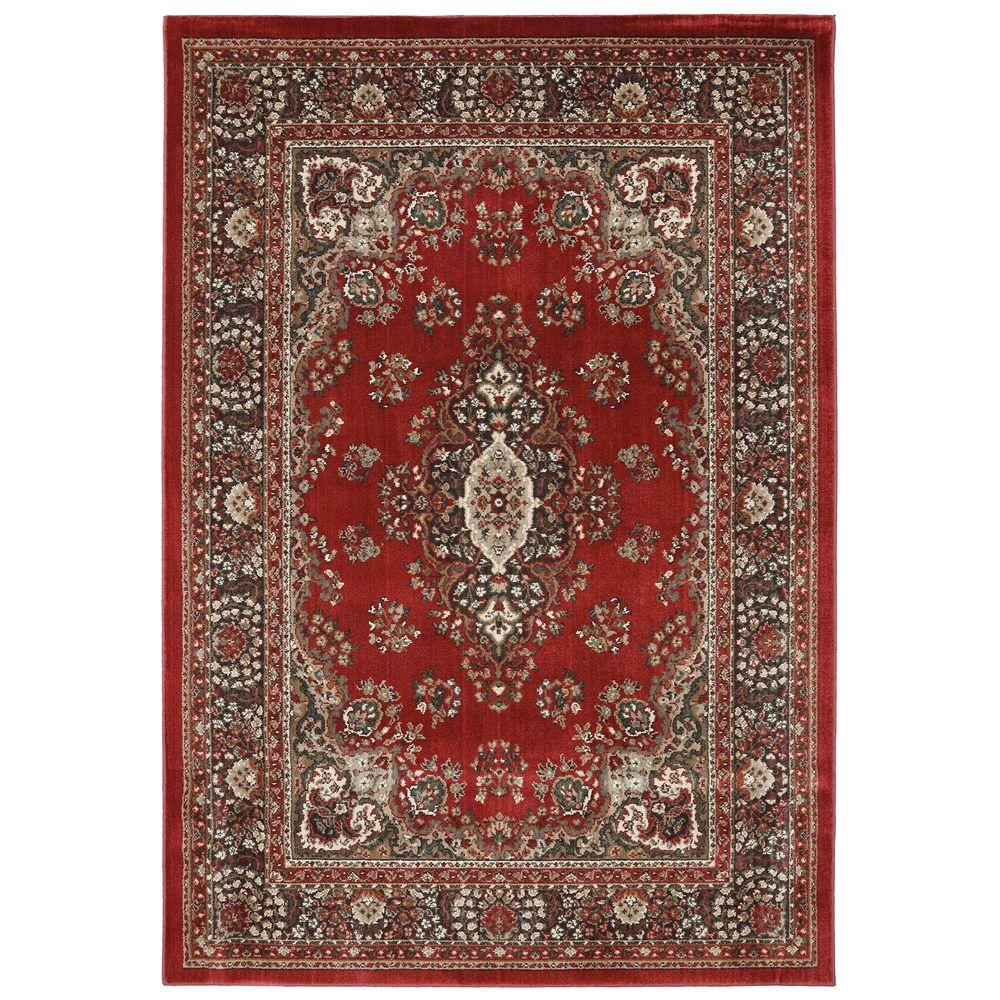 American Rug Craftsmen Shaker Heights Red 3 ft. 6 in. x 5 ft. 6 in. Area Rug