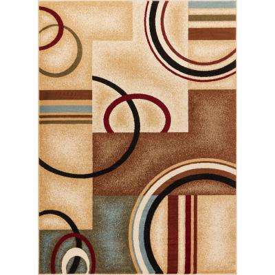 Barclay Arcs and Shapes Ivory 8 ft. x 10 ft. Modern Geometric Area Rug