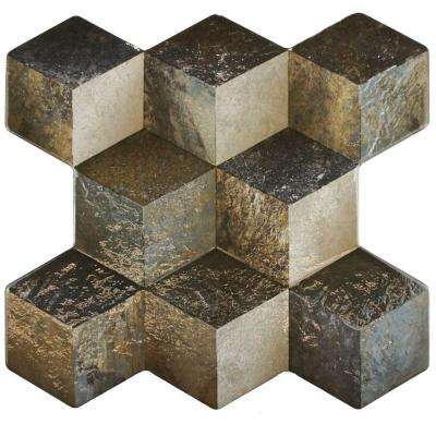 Cubic Ceniza 3D 15-1/4 in. x 16 in. Ceramic Floor and Wall Tile (15.6 sq. ft. / case)