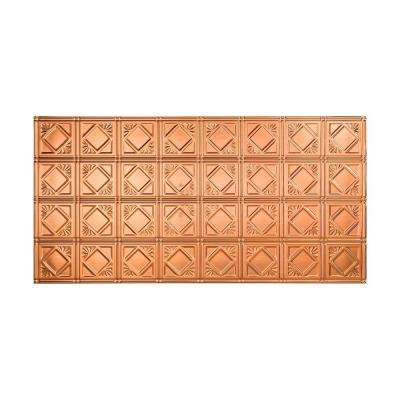 Traditional 4 - 2 ft. x 4 ft. Vinyl Glue-Up Ceiling Tile in Polished Copper