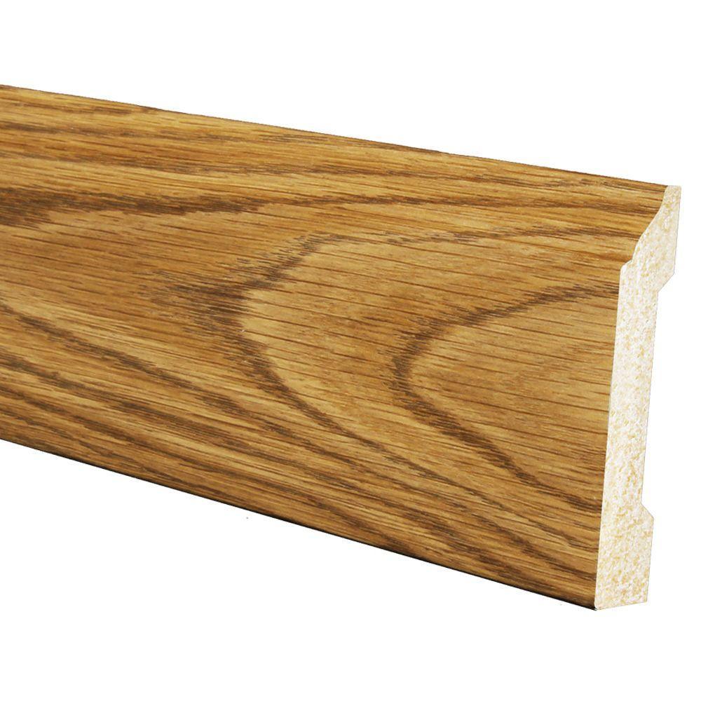 1/2 in. x 4-3/16 in. x 96 in. Polystyrene Ultra Oak Large Base Moulding (5-Pack)
