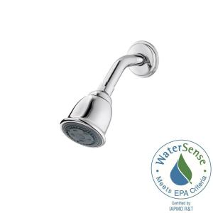 Pfister 2-Spray Shower Head Face 2-31/32 inch Fixed Shower Head with Arm and Flange in Polished Chrome by Pfister