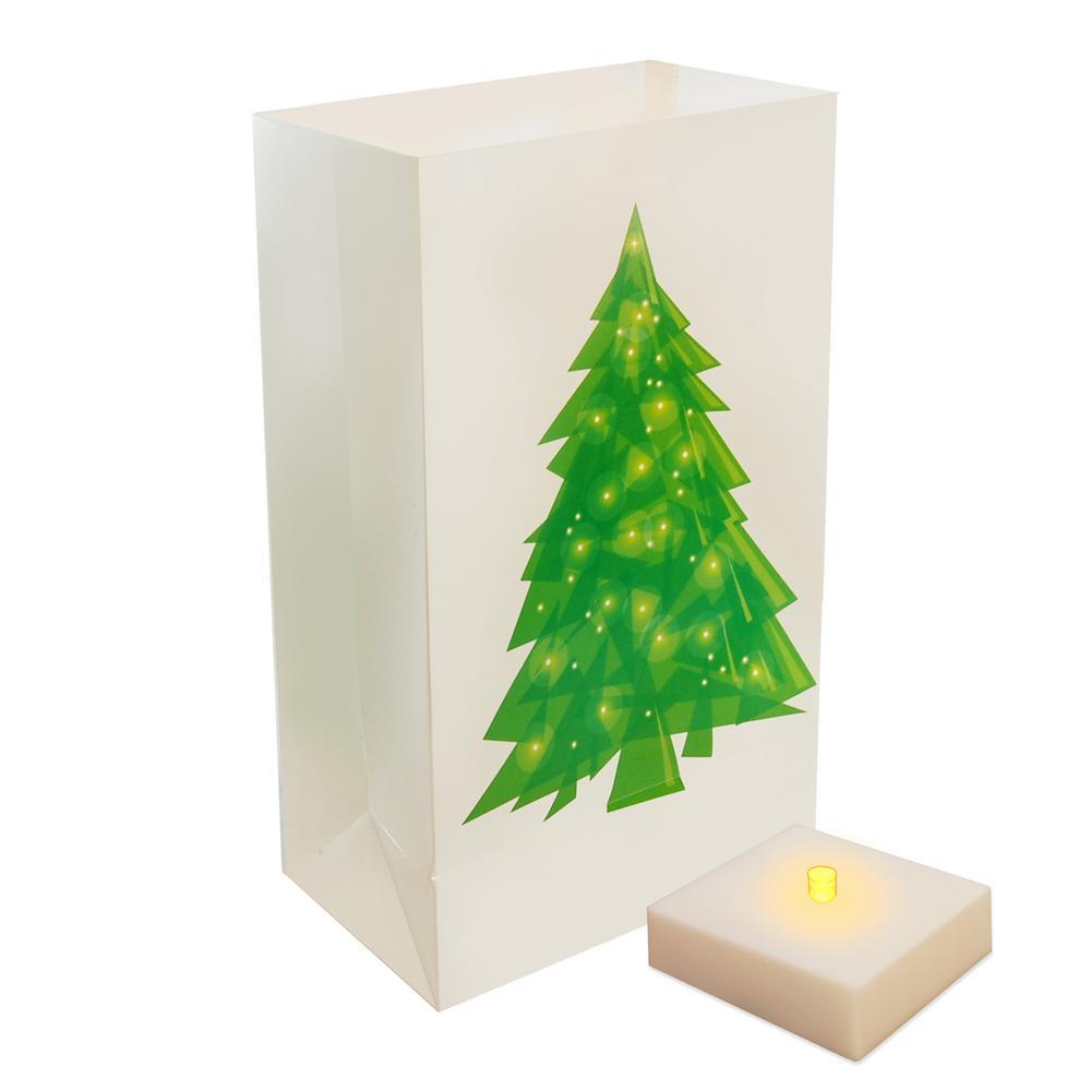 LumaLite Holiday Tree Luminaria Kit (6-Count)