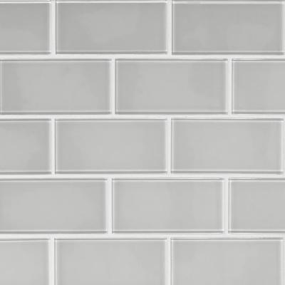 Ice 3 in. x 6 in. x 8mm Glossy Glass White Subway Tile (1 sq. ft. / case)