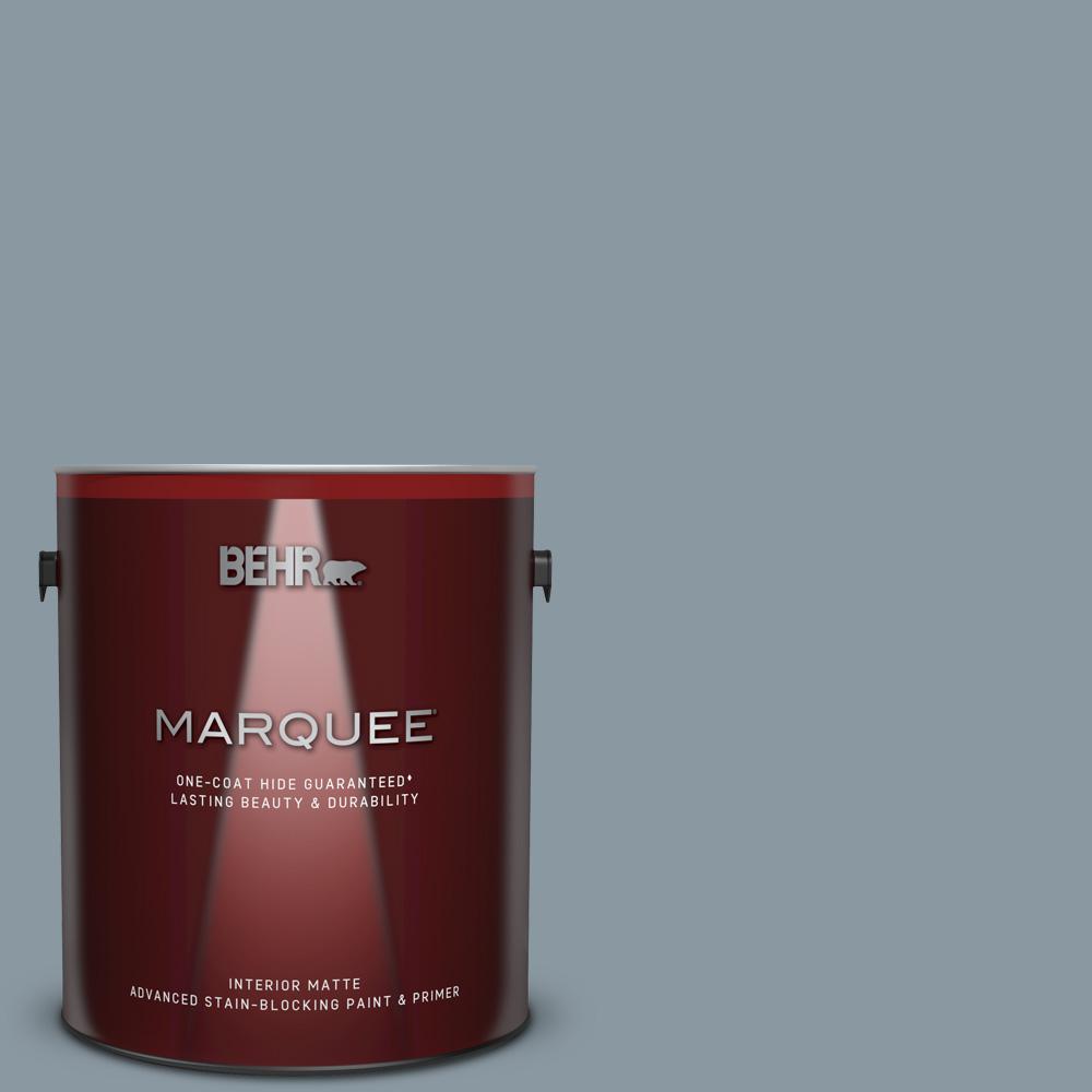 Behr Marquee 1 Gal N490 4 Teton Blue One Coat Hide Matte