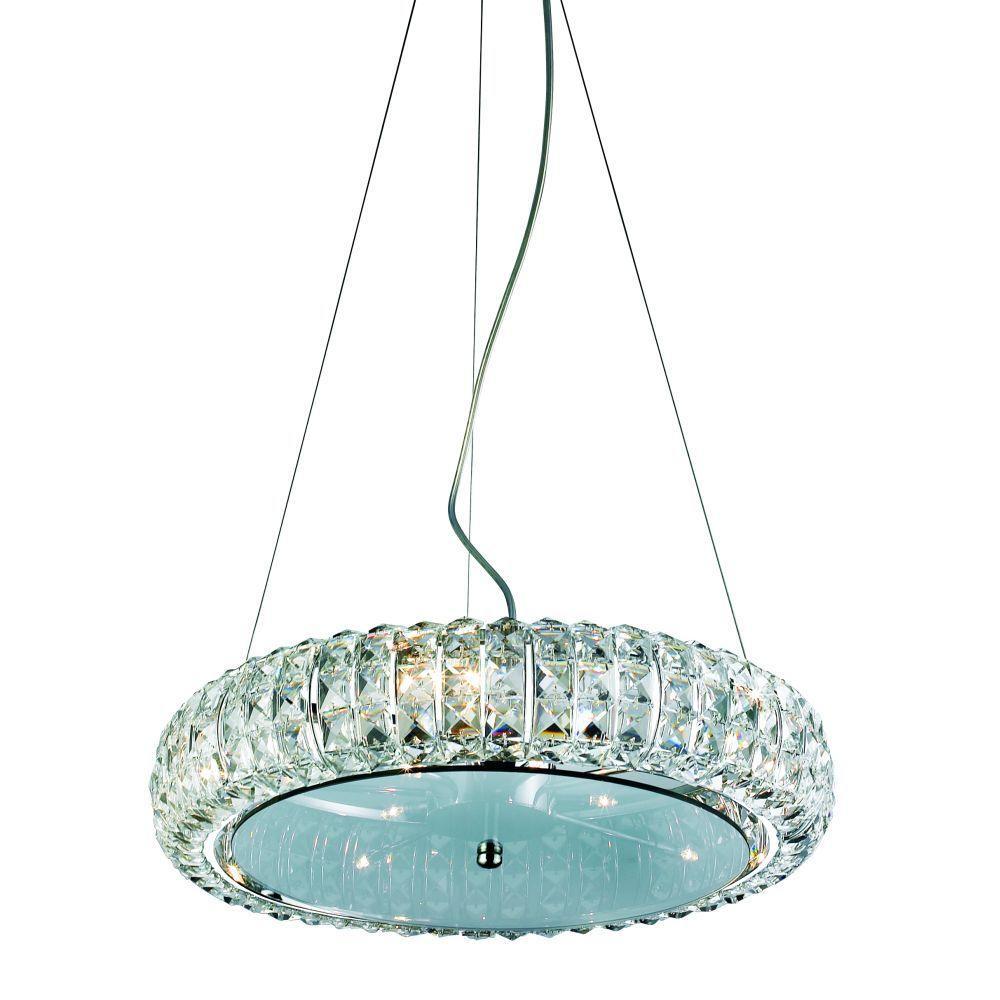 Eurofase Anapolis Collection 10-Light Chrome Hanging Large Pendant