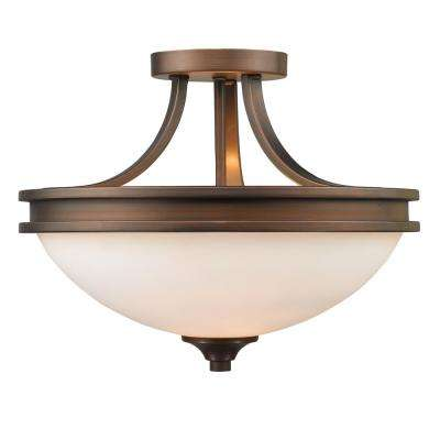 Holborn Collection 2-Light Sovereign Bronze Semi-Flushmount
