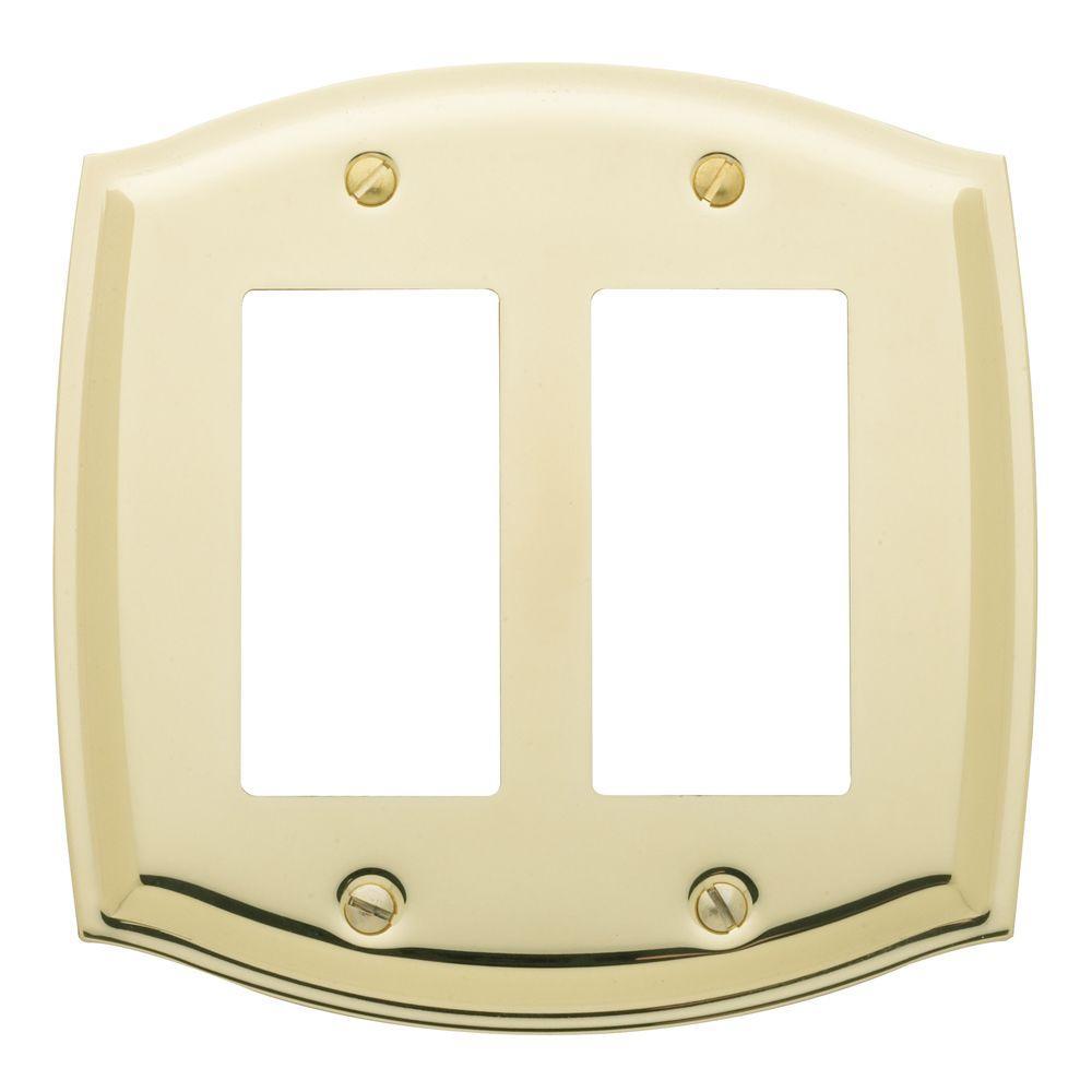 Baldwin Colonial 2 Rocker Wall Plate - Polished Brass