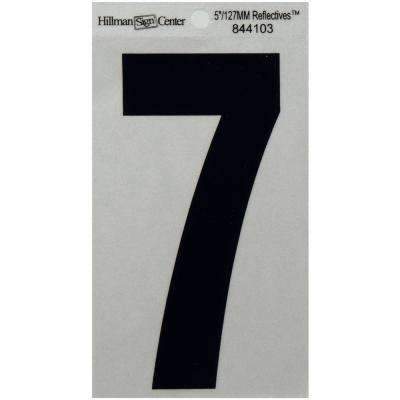 5 in. Mylar Reflective Number 7