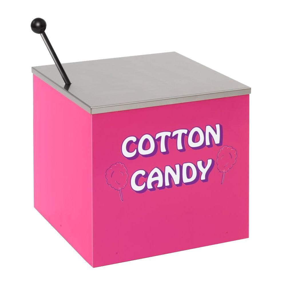 Paragon Cotton Candy Stand, Silver/Silver Put cotton candy machine on a stand for easier access, better merchandising and greater mobility. This sturdy, all-steel construction has a chip resistant coating. Convenient storage area. Color: Silver/Stainless Steel.