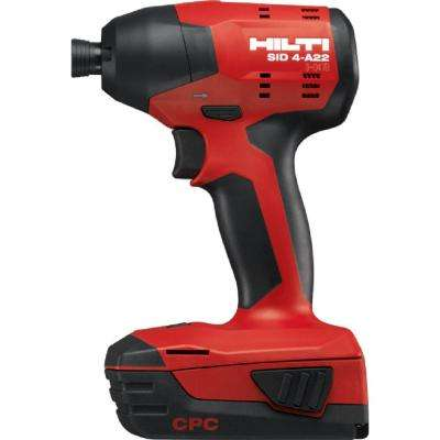 22-Volt SID 4 Advanced Compact Battery Cordless Impact Driver No Bag or Case