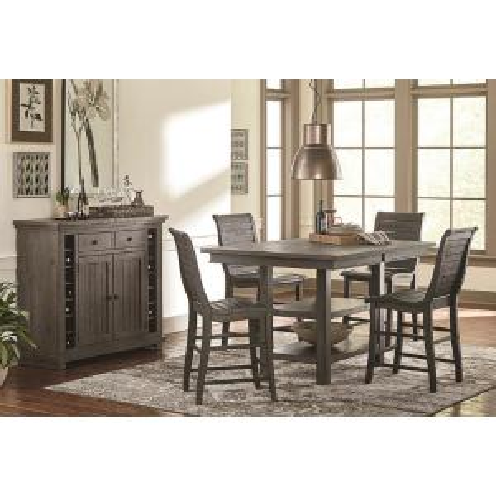 Willow Distressed Dark Gray Rectangular Counter Table