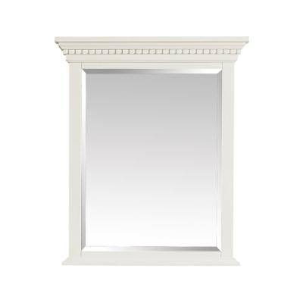 Hastings 28 in. W x 32 in. H Framed Rectangular Bathroom Vanity Mirror in French White