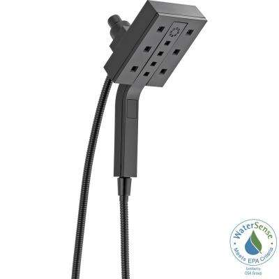 In2ition Two-in-One 4-Spray Hand Shower and Shower Head Combo Kit with H2Okinetic in Matte Black