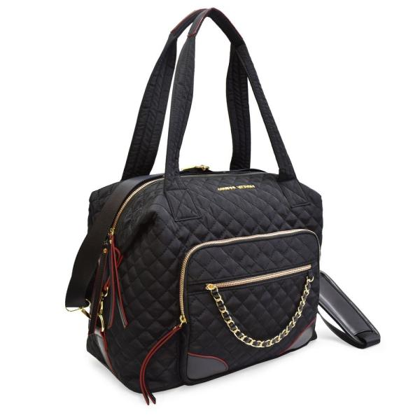 ADRIENNE VITTADINI The Diamond Quilted Collection 7 in. Black trim Lightweight