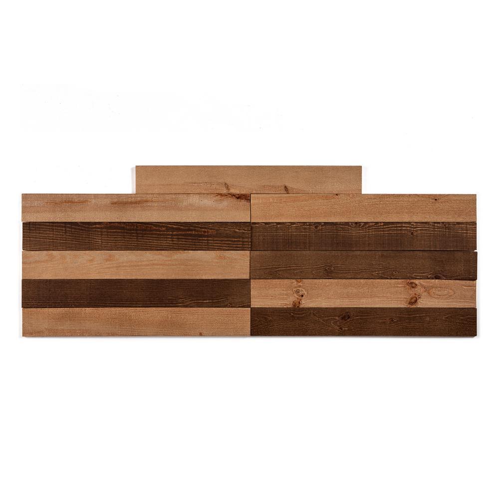Barnwood 9.5 sq. ft. Heritage Brown Wood Peel and Stick Wall Plank Paneling Kit