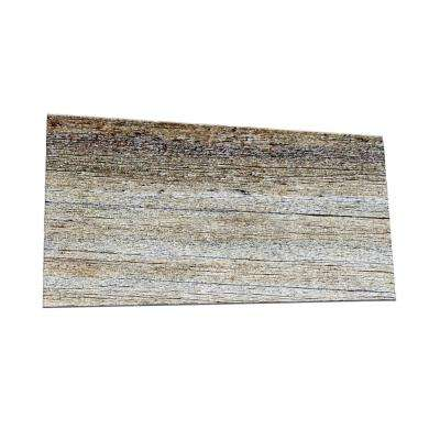 Peel and Stick Wood Plank Shades Glass Wall Tile - 6 in. x 3 in. Tile sample
