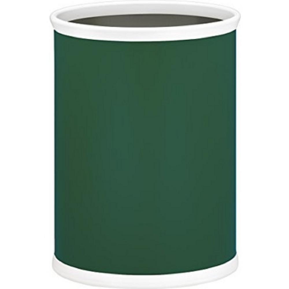 Bartenders Choice Fun Colors Tropic Green 13 Qt. Oval Waste Basket