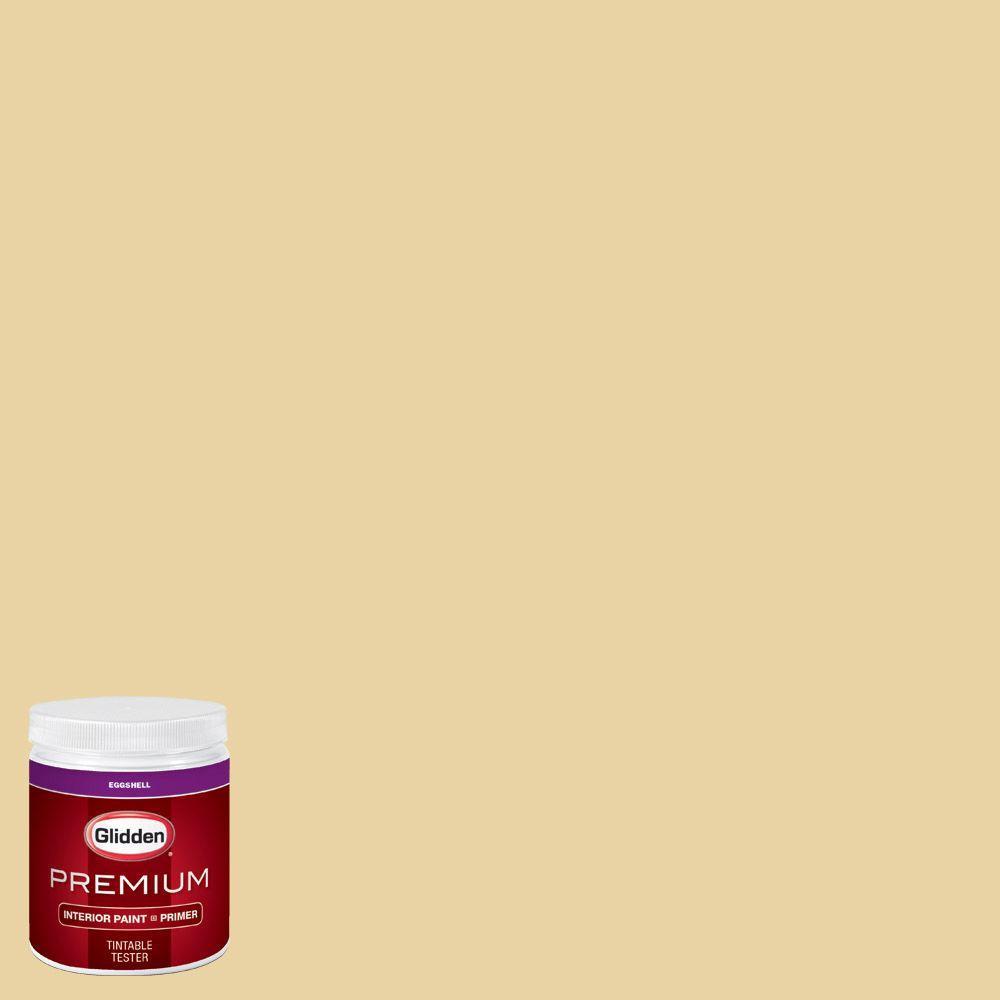 Glidden premium 8 oz hdgy36 costa mesa yellow eggshell for Eggshell yellow paint