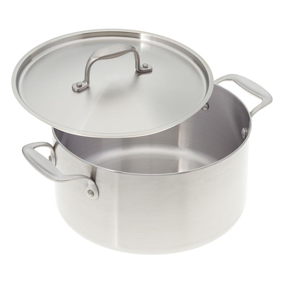 6 Qt. Premium Stainless Steel Stock Pot with Cover