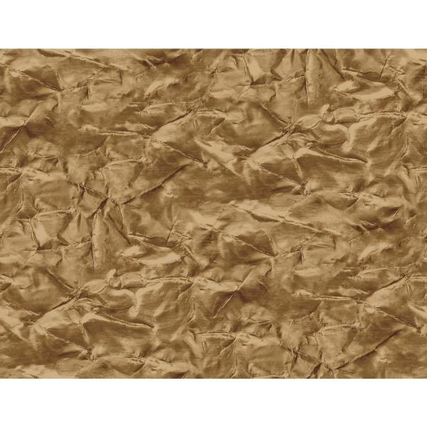 Seabrook Designs Sax Metallic Gold and Chestnut Crackle Wallpaper