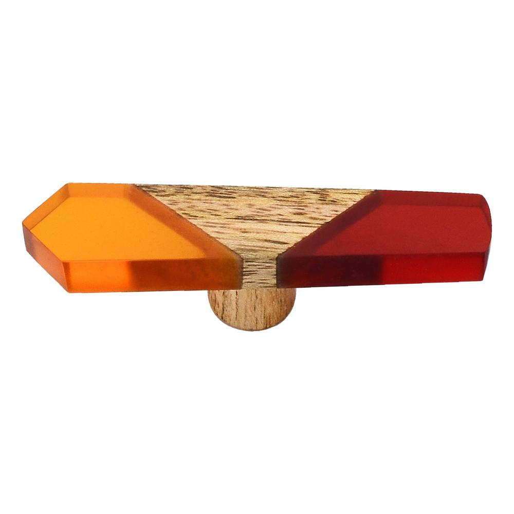 Mascot Hardware Fusion 3 in. Red and Orange Wood Cabinet Knob