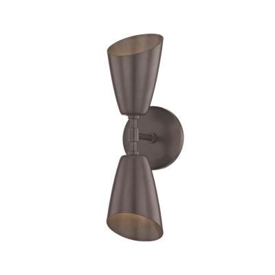 Kai 2-Light Old Bronze 15 in. H LED Wall Sconce