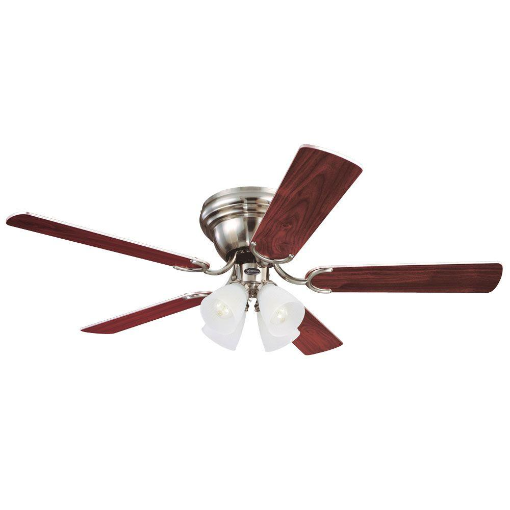 Westinghouse contempra iv 52 in brushed nickel ceiling fan 7861600 the home depot - Westinghouse and living ...