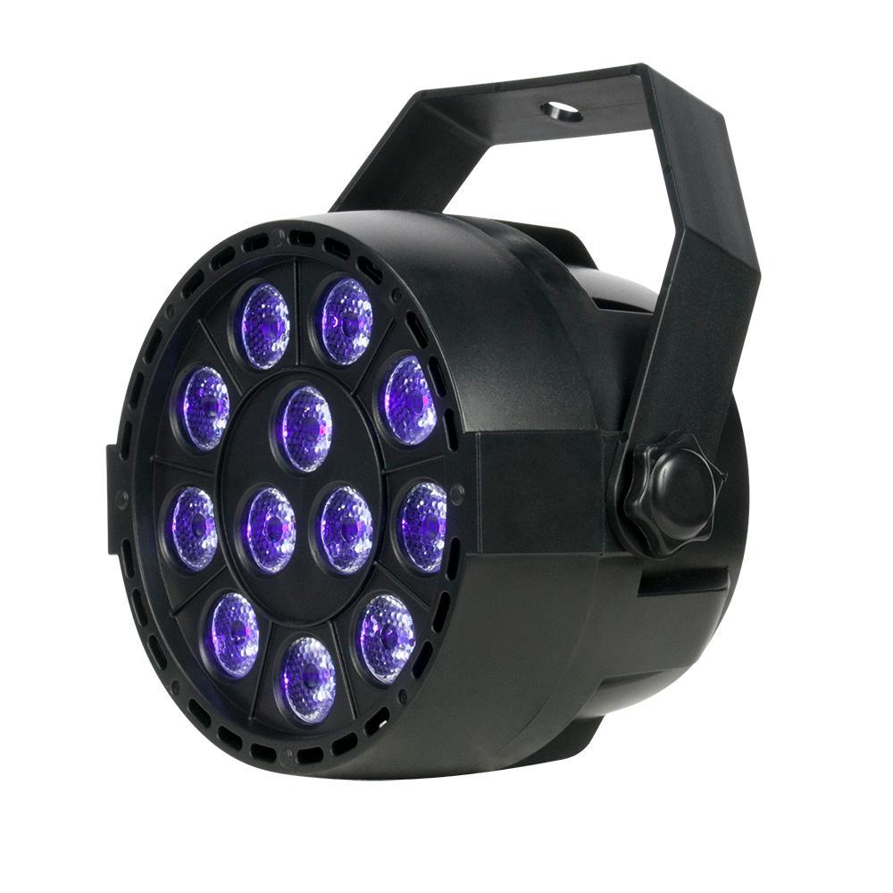 14-Watt Black Finish Low Bay 12 x 1-Watt UV LED Mini Par