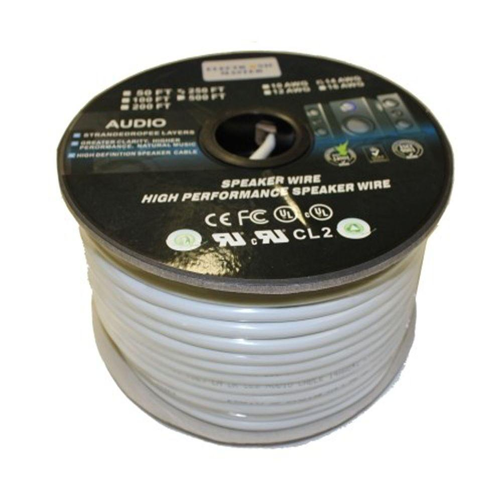 Southwire 250 ft. 16/2 Clear Stranded CU CL3 Speaker Wire-55797644 ...