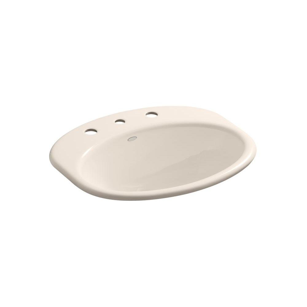 KOHLER Providence Self-Rimming Bathroom Sink with 8 in. Centers in Innocent Blush-DISCONTINUED