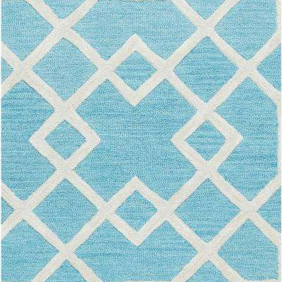 Caterine Blue Trellis 5 ft. x 8 ft. Area Rug