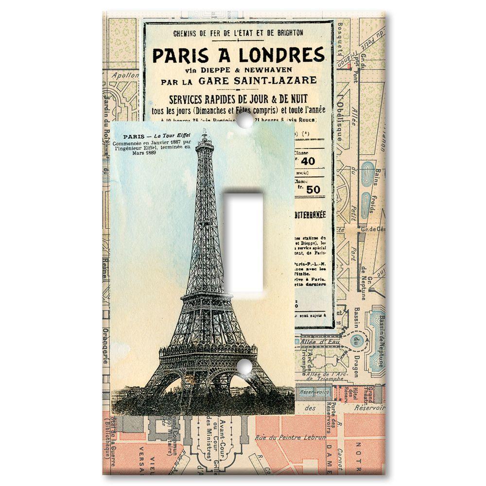 Art Plates Paris 1 Toggle Wall Plate