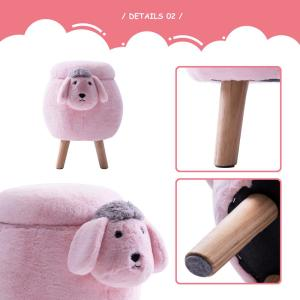 Excellent Merax Pink Sheep Animal Storage Ottoman Footrest Stool Short Links Chair Design For Home Short Linksinfo