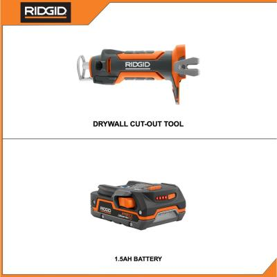18-Volt Cordless Drywall Cut-Out Tool with 1.5 Ah Lithium-Ion Battery