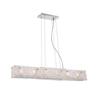 Caramico Collection 6-Light Chrome Linear Pendant