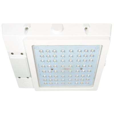 48-Watt White Integrated LED Outdoor Garage Area Light