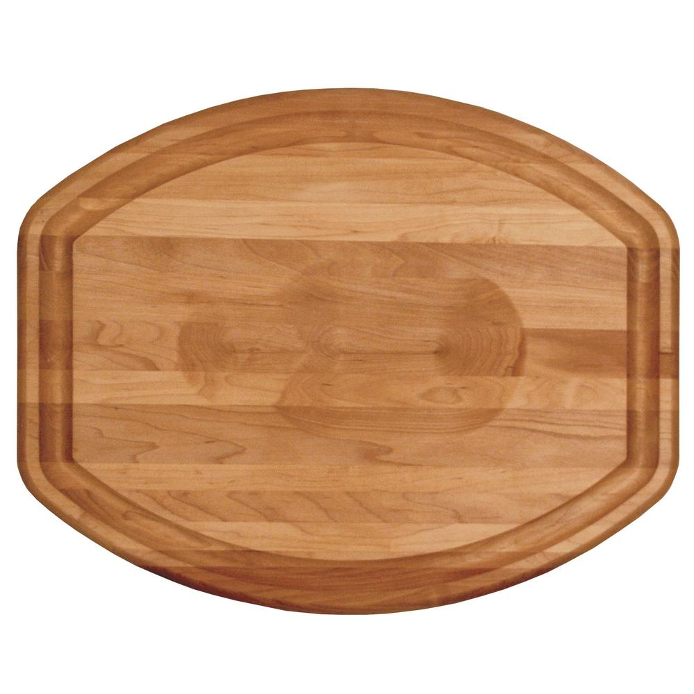 Branded Hard Wooden Turkey Cutting Board with Wedge